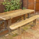 Bespoke garden table and bench