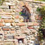 Brick wall with decorative detail